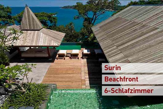 Phuket/Surin: 5-Sz.-Meerblick-Poolvilla, top modern, nur einen Steinwurf vom Strand entfernt