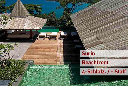 Phuket/Surin: 4-SZ-Beachfront-Poolvilla mit Chefkoch + Personal