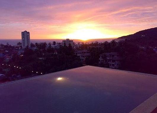 Phuket/Karon: 3-Sz-Pool-Penthouse mit Meerblick