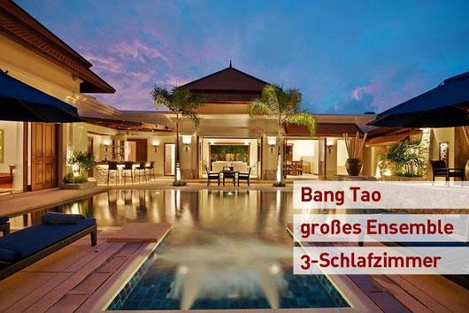 Bang Tao: Sehr geschmackvolle und großzügige 3-Sz.-Poolvilla mit Jacuzzi und mehreren Gebäuden