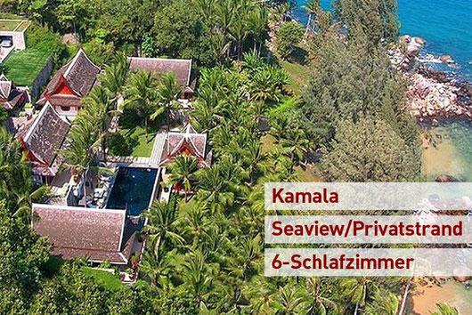"Phuket/Kamala: 6-Sz.-Beachfront-Villenensemble ""Best of Phuket"" mit eigenem Strand"