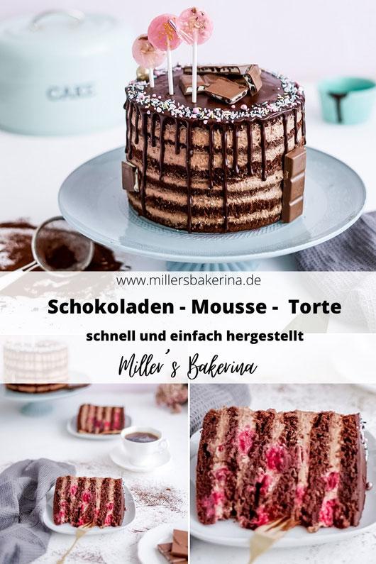 saftige Schokoladen - Mousse - Torte