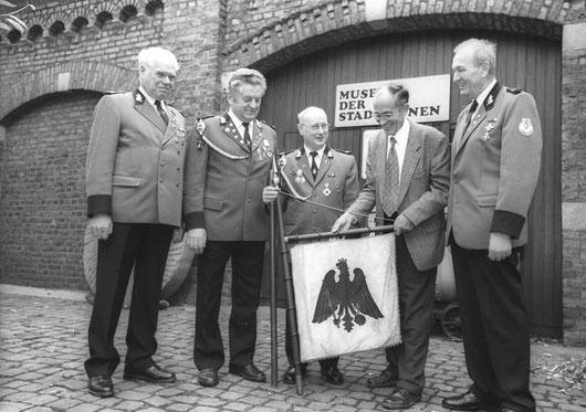 v.l. Klauslothar Bellwon, Hubert Hallmann, Walter Schneider, Dr. W. Lehnemann, Dieter Rehfeuter