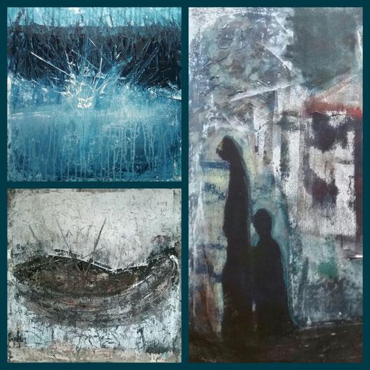 Collage aus: Das Boot (Die Wiege), Abkehr, Einschlag