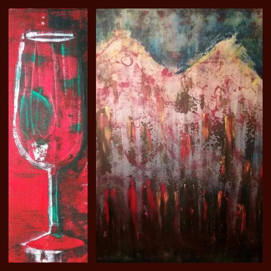 Collage aus: Der Weihnachtsmarkt, Leben im Glas