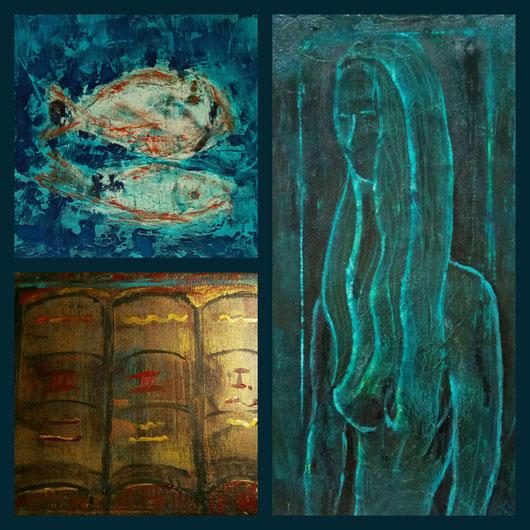 Collage aus: In der Tiefe,  Unschuld,  Die Schriften