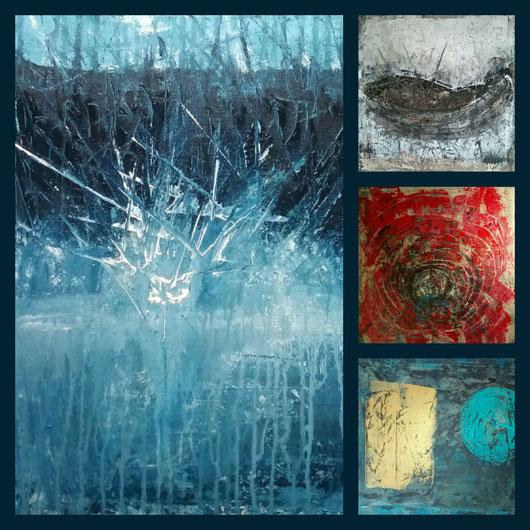 Collage aus: Einschlag,  Das Boot (Die Wiege), Die Katakombe,  Die Gestirne