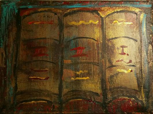 Bücher nebeneinander  Nicole Kräbber - Kunst in Bocholt - Galerie mit Acrylgemälden ...