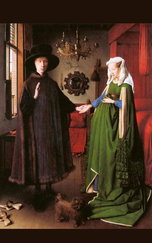 ファン・エイク「アルノルフィーニ夫妻像」1434年