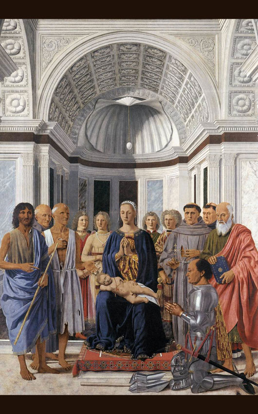 フランチェスカ「モンテフェルトロの祭壇画」1472年