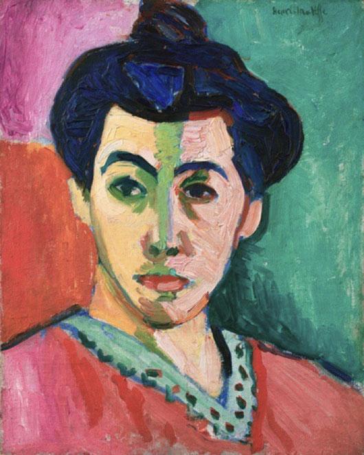 アンリ・マティス「緑の筋のあるマティス夫人の肖像」1905年