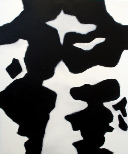 Kuhfell 1, 200 x 165 cm, Öl auf Leinwand, 2012