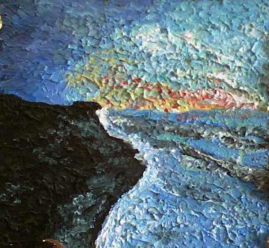 ALBA SUL CONERO - 2007 olio su legno 35 x40