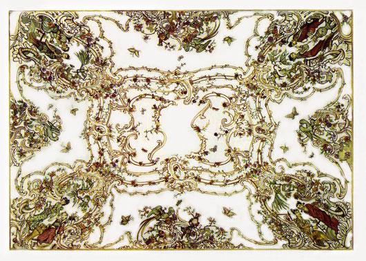 Palazzo Reale di Capodimonte - il soffitto del Salottino di porcellana