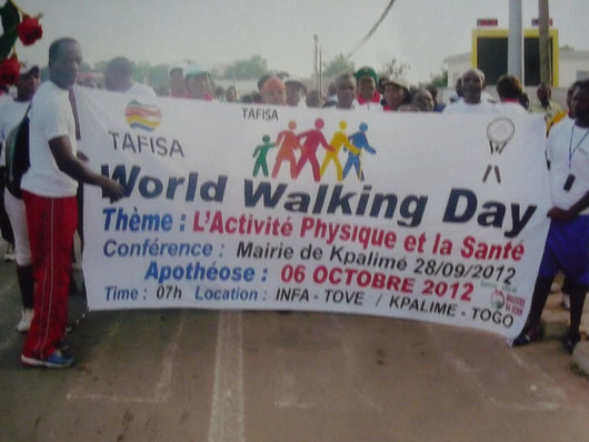 TAFISA world walking day 2012