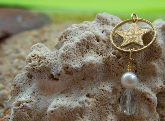 Münzsagewerk Katrin Thull | Bahamas - Seestern mit Perle