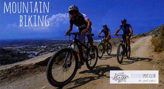 Mountain Biking on Naxos island Greece Griekenland