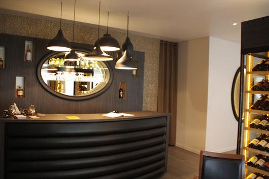 aménagement bar accueil restaurant