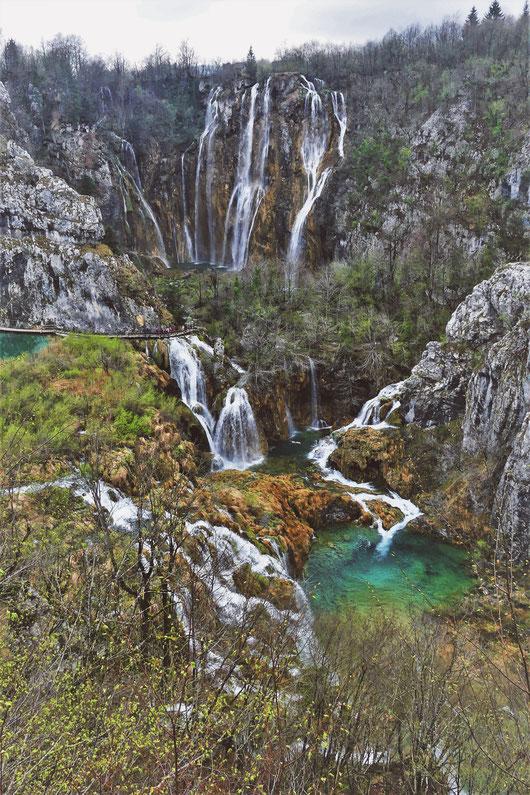 plitvice bigousteppes croatie lac cascade