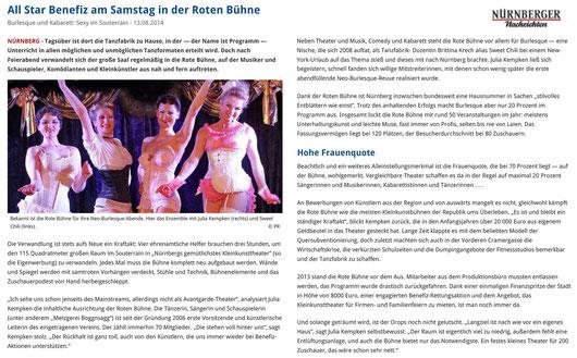 Nürnberger Nachrichten, 13.08.2014