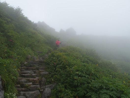 クロボコ岩を直前にして・・・ここまで下を向きっぱなしでした
