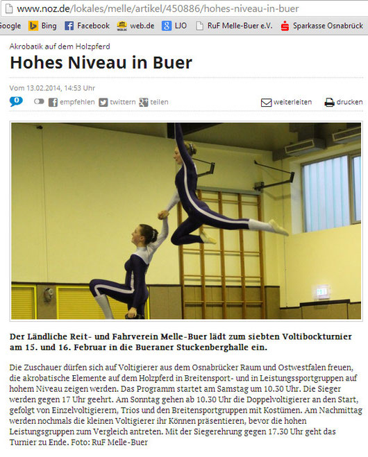 Im Meller Kreisblatt erschienen am 14.02.2014