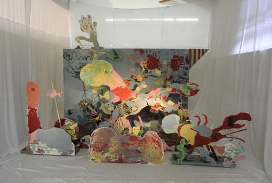 こぐまのきょうだいキン・タン・トー 動く巨大絵画