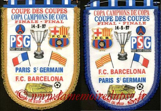 Fanions PSG-FC Barcelone  1996-97