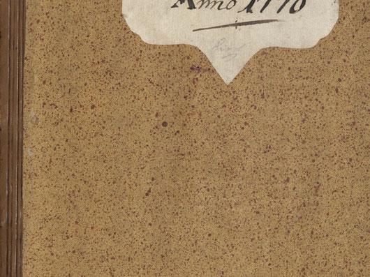Vorlage aus dem 18. Jahrhundert