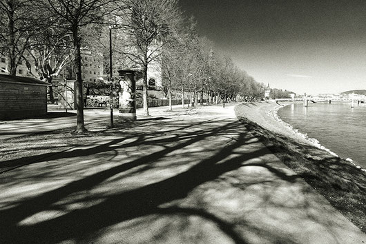 2020-03-15: the deserted Kaipromenade, Salzburg