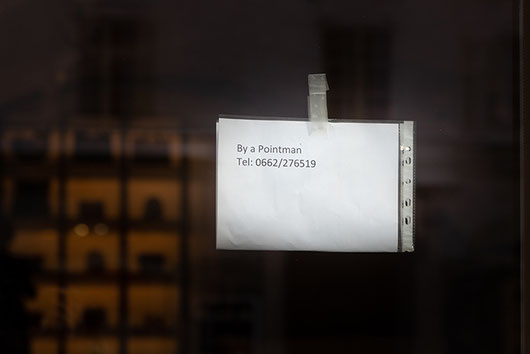 2020-03-15: A sign on a shop door