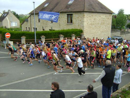 Avenay - départ de la 6ème course de la Guigne