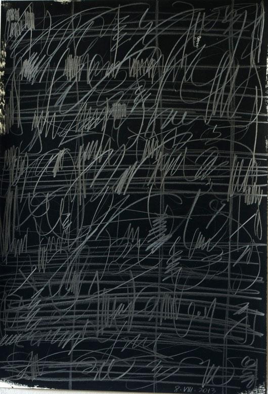 prades 2013     graphit over gouache on paper     35 x 50 cm