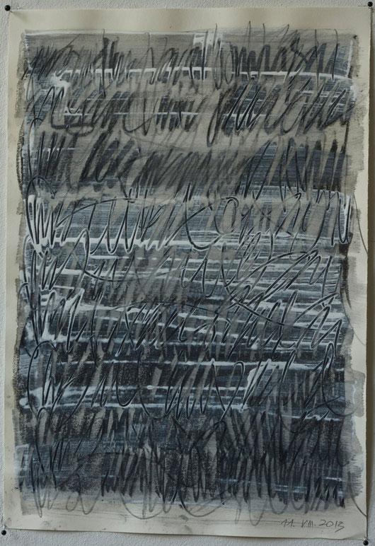 prades 2013    mixed media on paper   35 x 50 cm