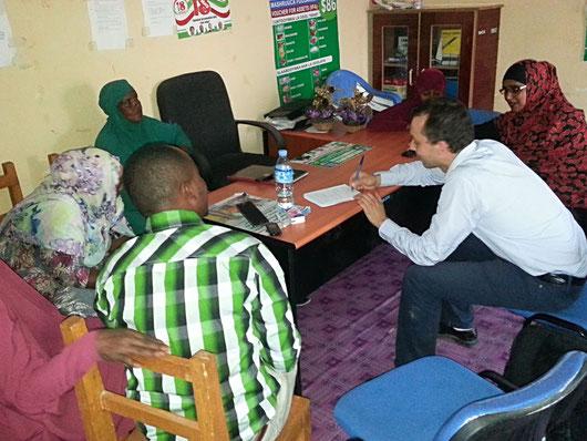 Entretien avec les membres du Comité pour l'Enfant de Burco Sheik à Berbera (Somaliland)