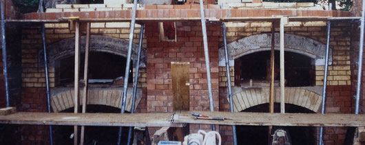 Steinöfen im Bau