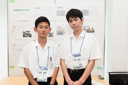 左から 松本淳希くん(3年)、大野航平くん(3年)