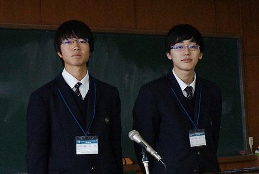 村脇くん(左)、福田くん(右)