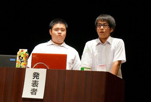 左から唐鎌將暉くん(3年)、八木勇成くん(3年)