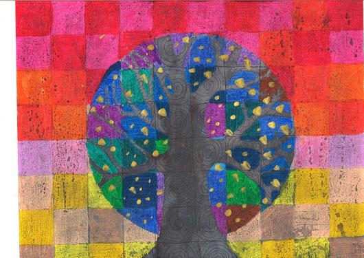 Bomen in warm koud contrast de website van kunstopdemagnolia!