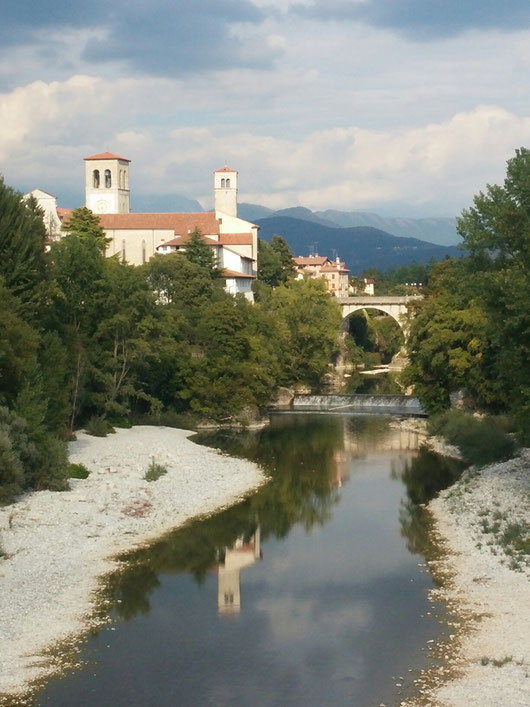 Cividale de Friuli, die Ponte del Diavolo, von dort fahre ich morgen ins Gebirge, entlang des Flusses
