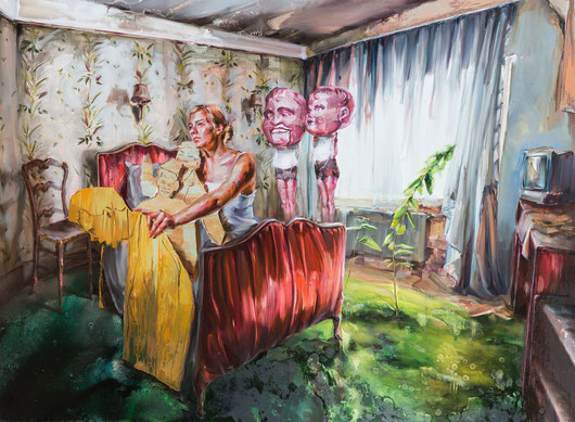 fourth corner, 130 x 180 cm, oil on linen, 2013