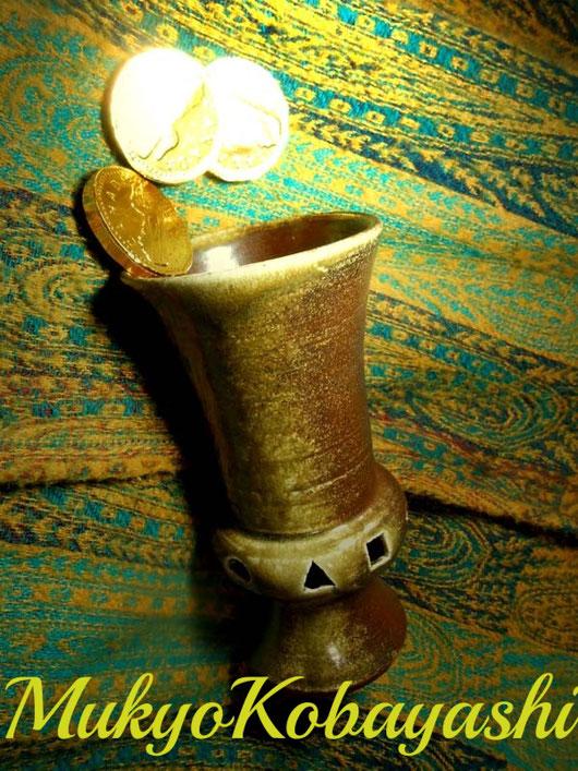 夢狂 こだわりのビールカップ 音の鳴るカップ 土鈴付きビールカップ MukyoKobayashi