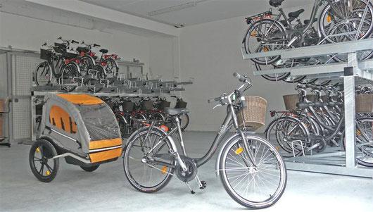 Location et Hébergement de vélos équipés à des tarifs préférentiels !