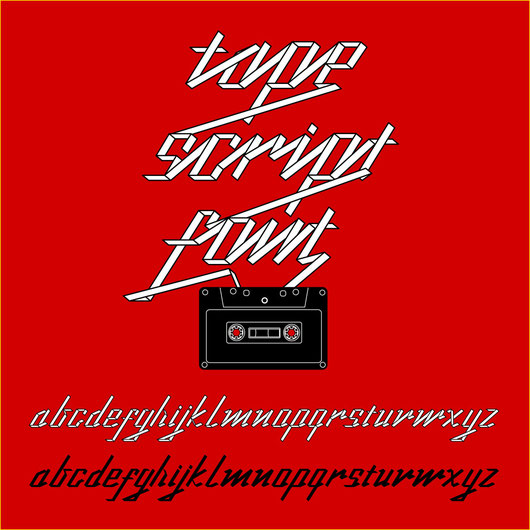 Tape script font