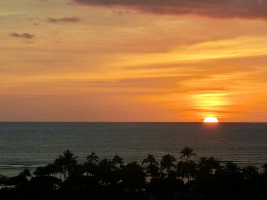 信じられないくらいキレイな夕日