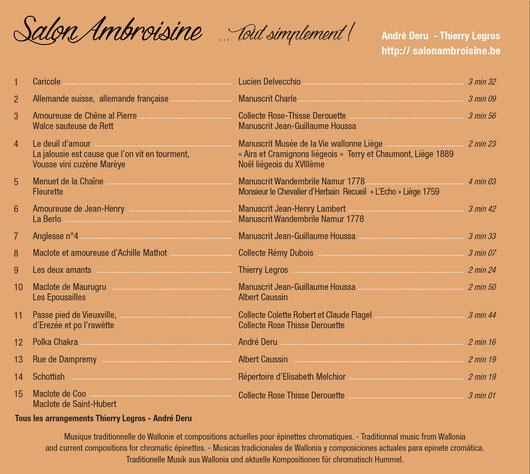 Salon Ambroisine cd Tout simplement! épinettes chromatiques musique de Wallonie