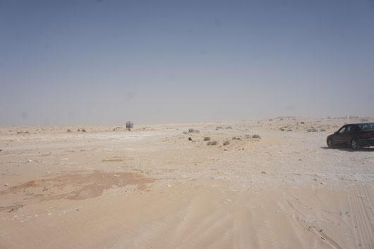 Hauptgrenzuebergang in Zwischen Marokko und Mauretanien