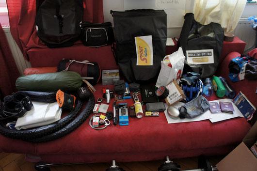 Equipment für die Tour