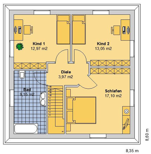 SV DESSAU Grundriss Variante OG (klick vergrößern)